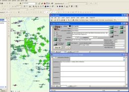 Oil & gas field database interface using ArcMap™